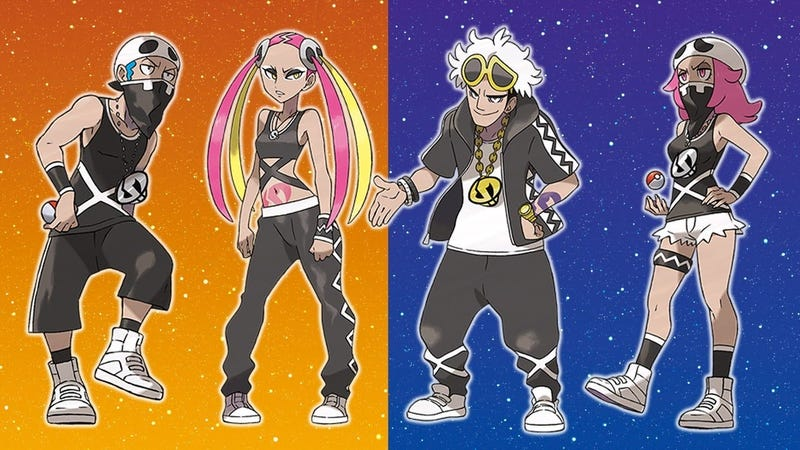 Illustration for article titled Team Skull Are The Best Villains In Any Pokémon Game
