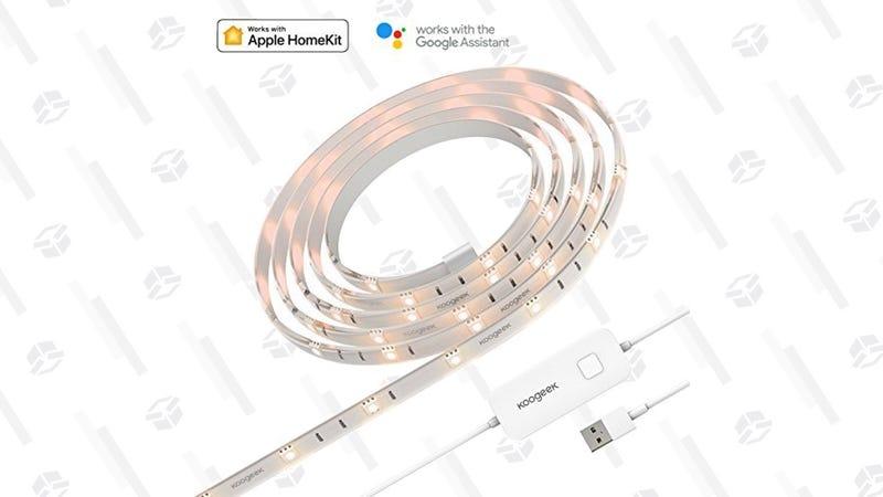 Tira de luces inteligente Koogeek RGB | $29 | Amazon | Usa el código VXFNNQ58Gráfico: Shep McAllister