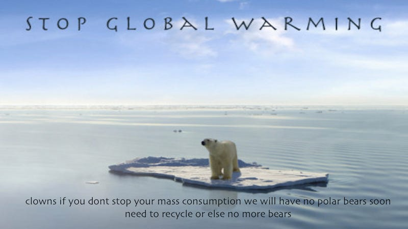 Illustration for article titled Today In Jose Canseco Tweets As Motivational Posters: Stop Global Warming
