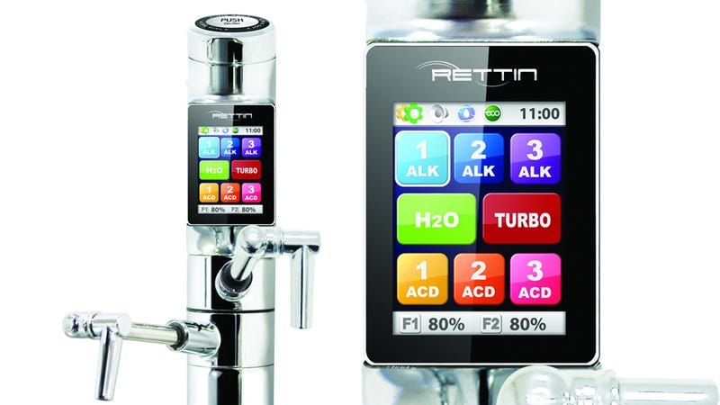 Illustration for article titled This Touchscreen Water Faucet Might Actually Be Good for Your Health