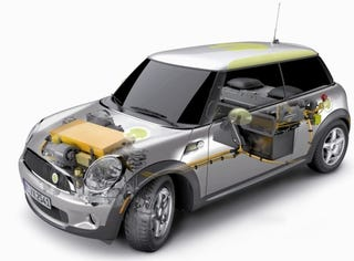 Illustration for article titled MINI E Electric Mini Re-Revealed, Now With Technical Images