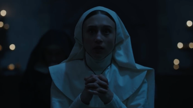 Taissa Farmiga as Sister Irene in The Nun.