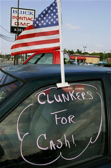 Illustration for article titled Not-So-Big Three Winning Cash For Clunkers Sales War... Barely