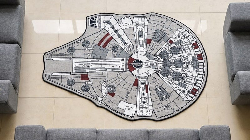 Illustration for article titled No Room Is Truly Decorated Without a Millennium Falcon Rug