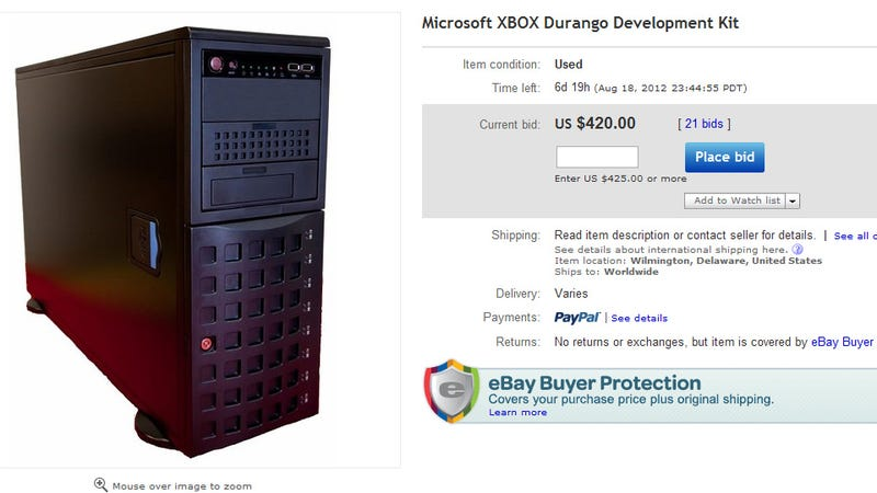 "Illustration for article titled Someone's Trying to Sell an ""XBOX Durango Development Kit"" on eBay [Update]"