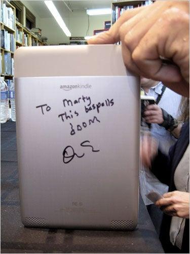 Illustration for article titled David Sedaris on the Kindle: 'This Bespells Doom'