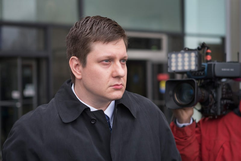 Chicago police officer Jason Van Dyke leaves the Criminal Courts Building after pleading not guilty to first-degree murder charges related to the shooting death of 17-year-old Laquan McDonald on December 29, 2015, in Chicago. Van Dyke shot McDonald 16 times.