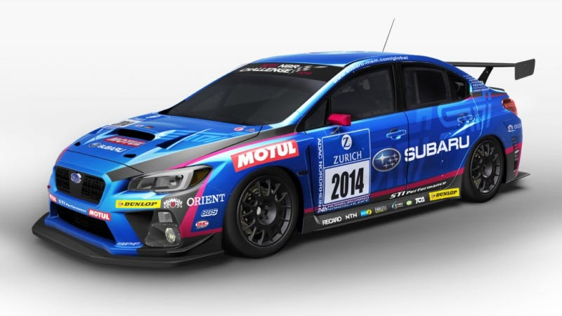 Illustration for article titled Subaru Will Run The Nurburgring 24 With This Super Sexy 2015 WRX STI