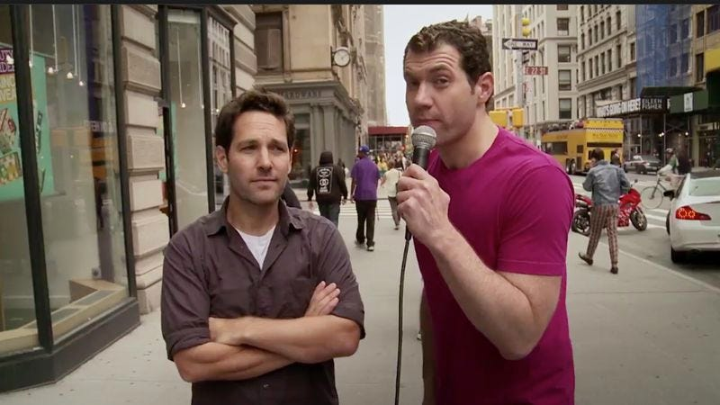 Illustration for article titled Watch New Yorkers confirm that, yes, they'd have sex with Paul Rudd for a dollar
