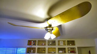 What S The Big Deal This Skateboard Ceiling Fan Does 900s