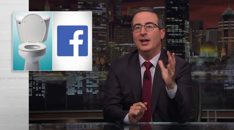 """Illustration for article titled John Oliver runs down the specific ways in which """"Facebook is a toilet"""" on Last Week Tonight"""