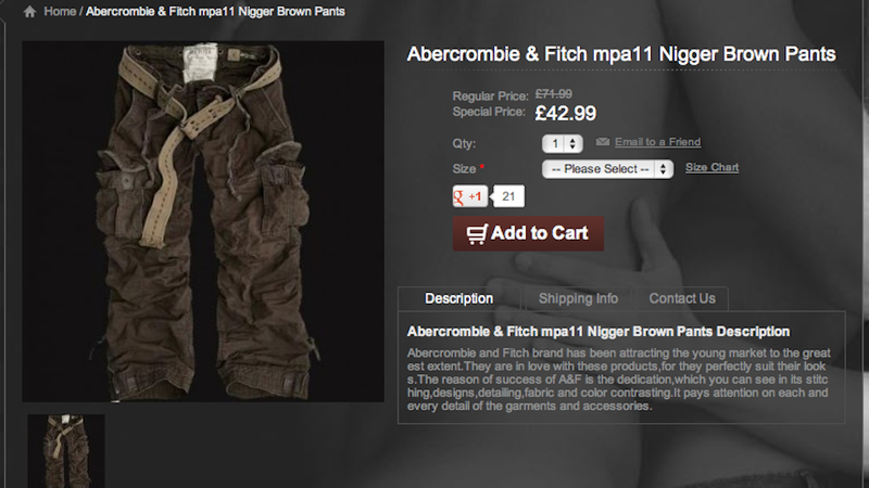 Illustration for article titled No, Abercrombie Isn't Selling 'N***** Brown' Pants