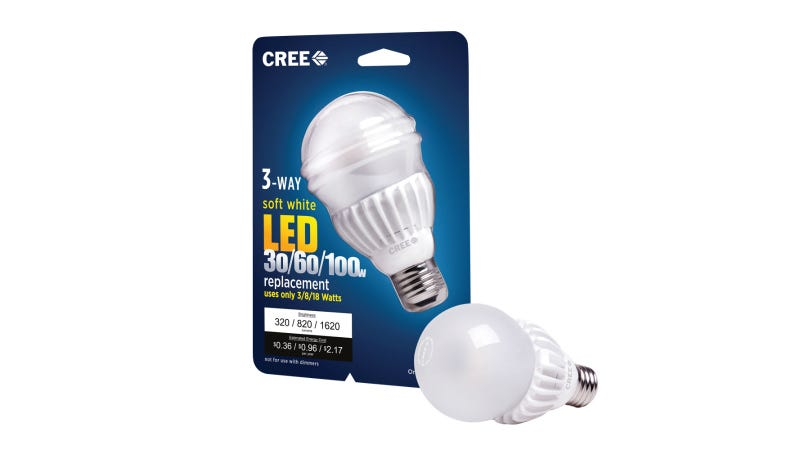 Illustration for article titled Cree's New 3-Step LED Bulb Brightens Better Than You're Used To