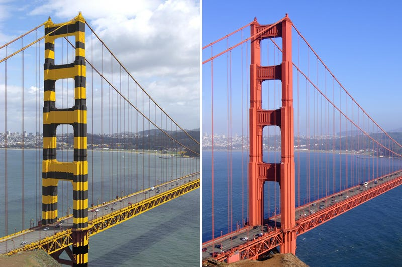 Illustration for article titled The Golden Gate Bridge Almost Ended Up With a Bumble Bee Paint Job