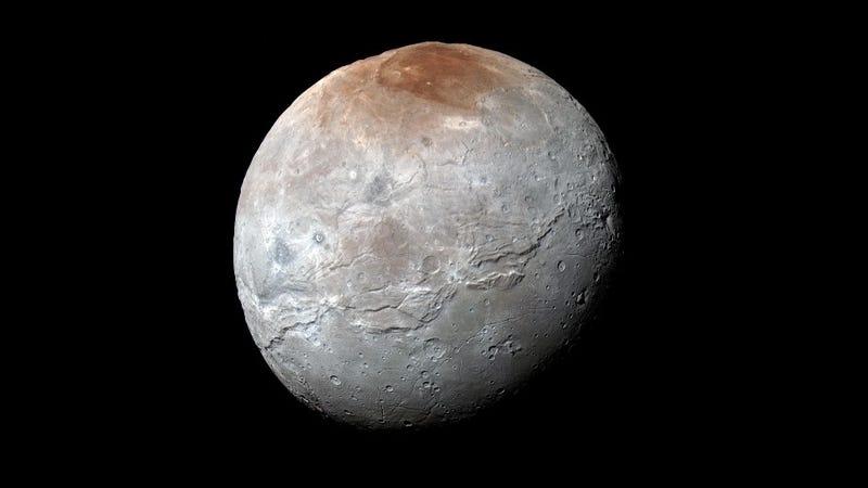 Pluto's largest moon, Charon.