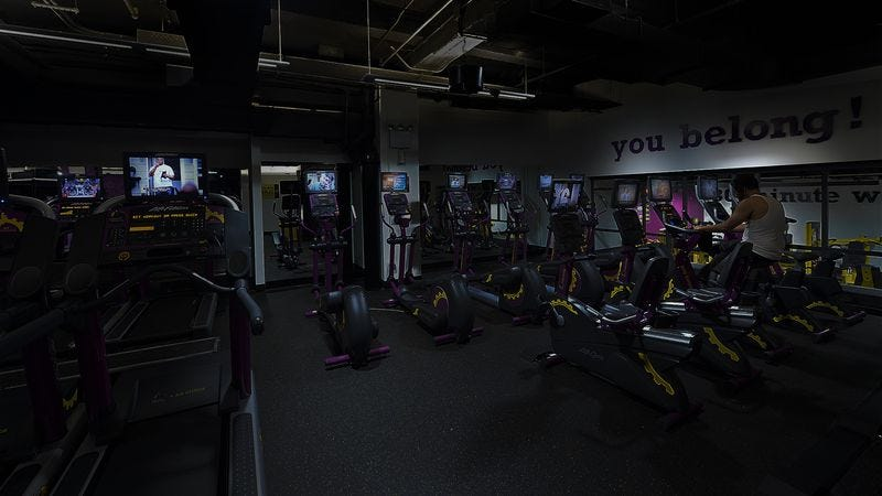 Illustration for article titled Planet Fitness Offering New Lights-Off Hour So No One Can Watch You Work Out