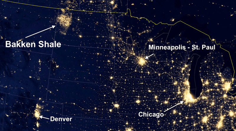 Illustration for article titled Satellite Images Reveal How the U.S. Oil Boom Is Creating New Cities