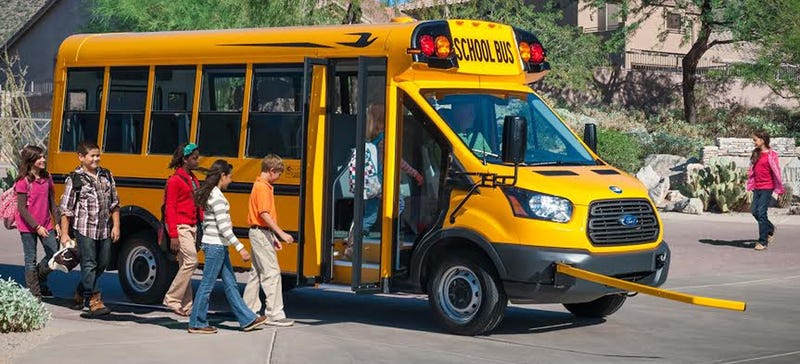 Illustration for article titled Here's The First 2015 Ford Transit School Bus