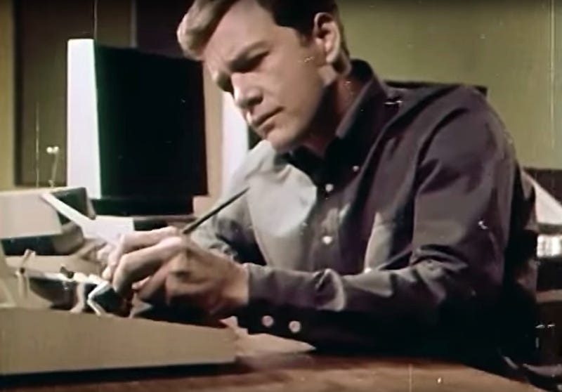 Wink Martindale doing online banking in the 1967 futurist film 1999 A.D.
