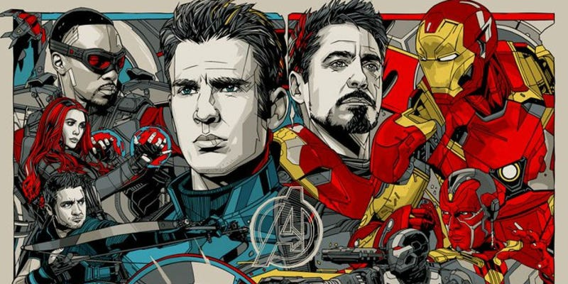 Illustration for article titled Captain America: Civil War Is Captured Perfectly in This Insanely Epic New Poster