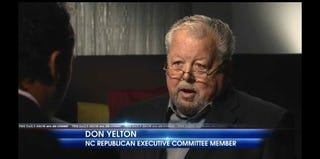 Don Yelton, North Carolina County precinct GOP chair (screenshot of The Daily Show/Comedy Central)
