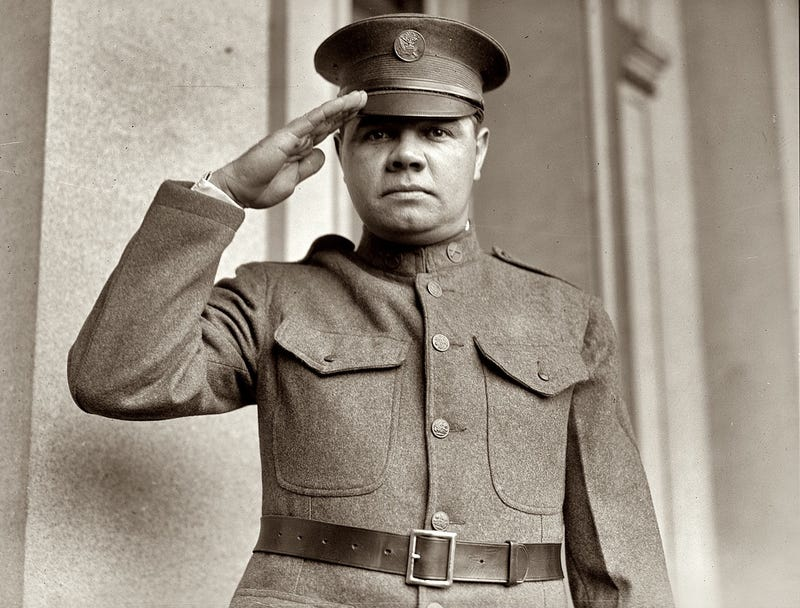 Illustration for article titled Just Because, Here's Babe Ruth's World War I Draft Registration