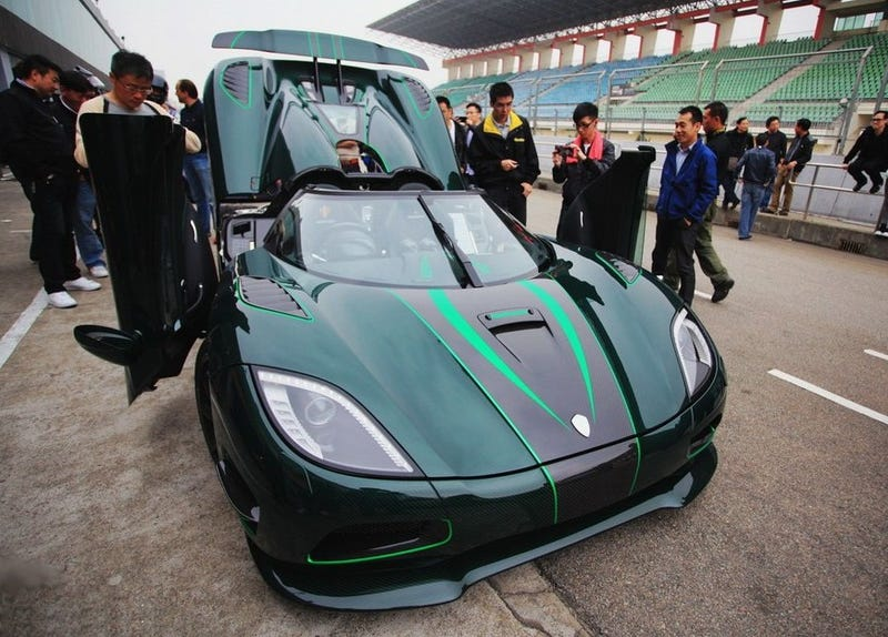 Illustration for article titled Drive's Green Koenigsegg Lives In China