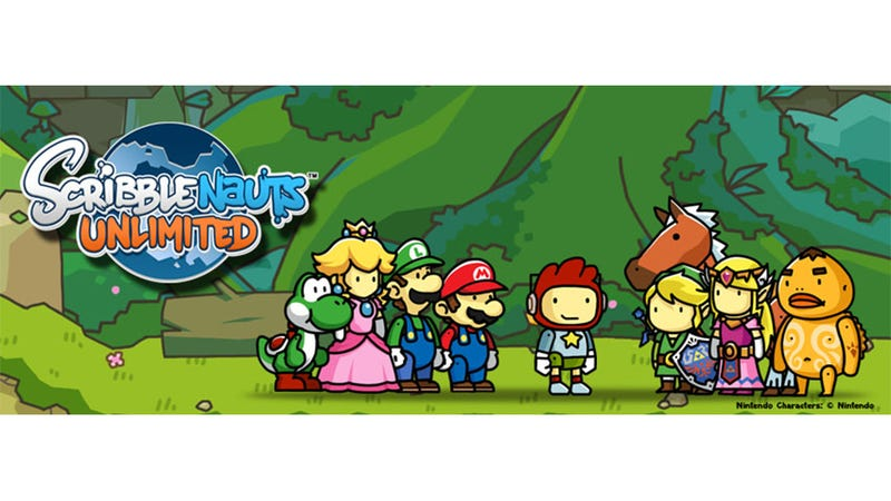 Illustration for article titled Yup, There's Now Some Zelda and Mario in Your Scribblenauts