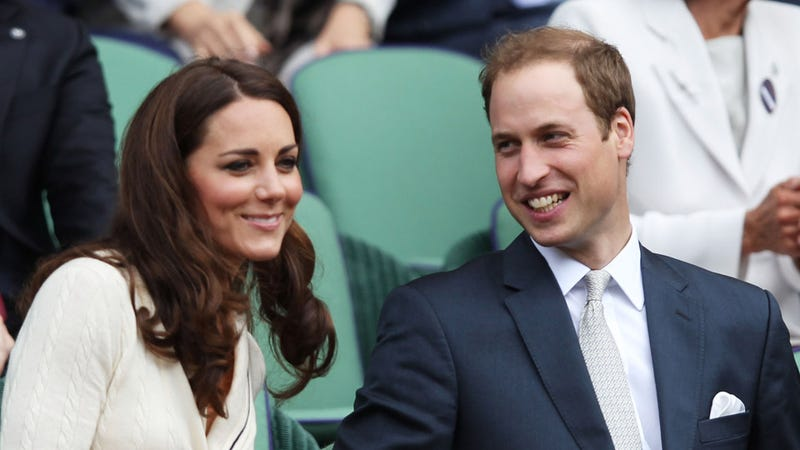 Illustration for article titled Kate Middleton and Prince William Take in a Game of Tennis