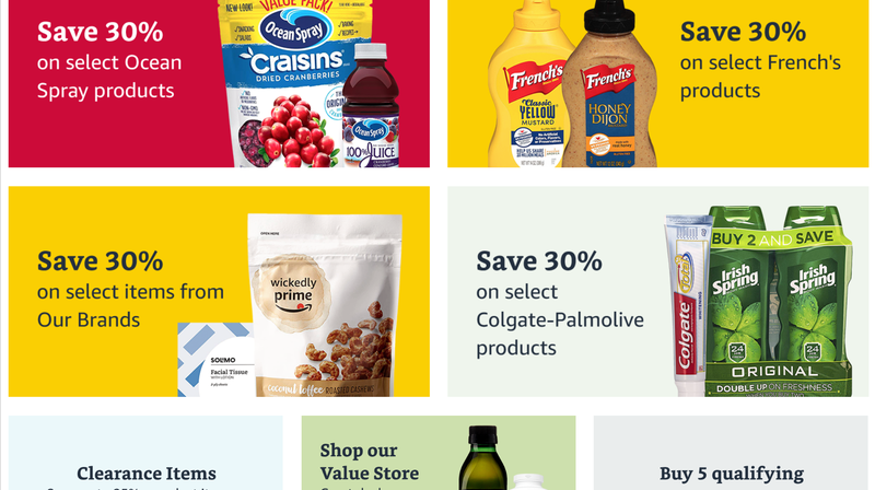 $10 Off and Free Shipping With $60 Prime Pantry Purchase | Amazon