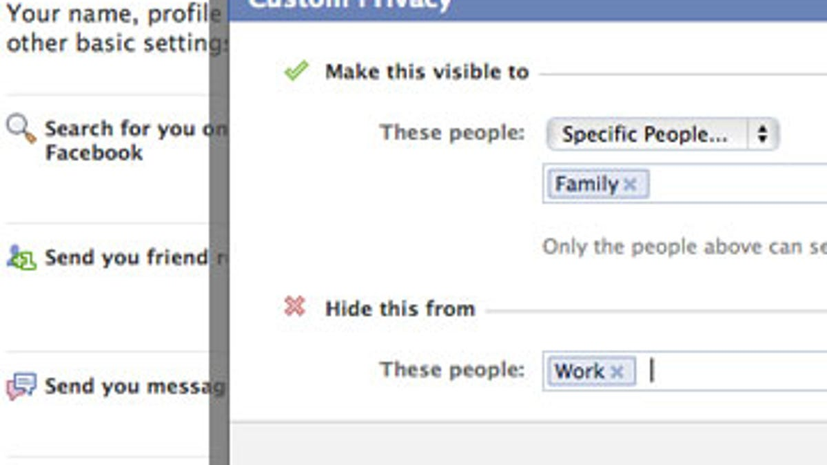 hide a specific post on facebook