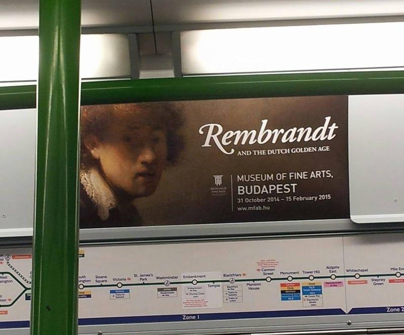 Illustration for article titled Kiszúrta a nyomdahibát a Szépművészeti plakátján a londoni metróban
