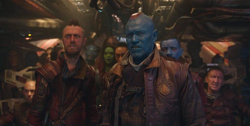 Illustration for article titled Nuevas imágenes del rodaje de Avengers: Endgame revelan que Kraglin estuvo a punto de aparecer en la película