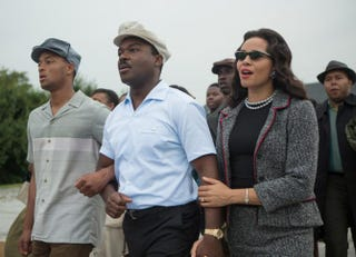 David Oyelowo (center) as the Rev. Martin Luther King Jr., and Carmen Ejogo as Coretta Scott King, in SelmaParamount Pictures