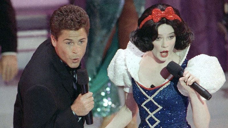 Rob Lowe and Snow White sure can sing.