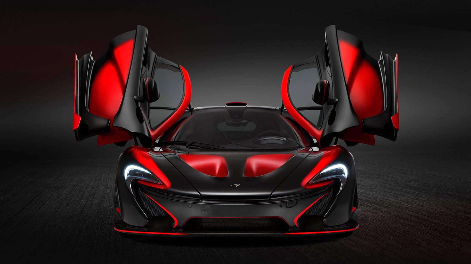 Red And Black Car Wallpapers: This Has To Be The Craziest McLaren P1 Yet