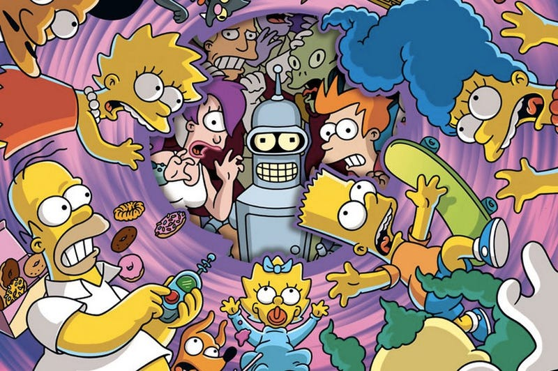 Illustration for article titled A Simpsons And Futurama Crossover Will Air This November