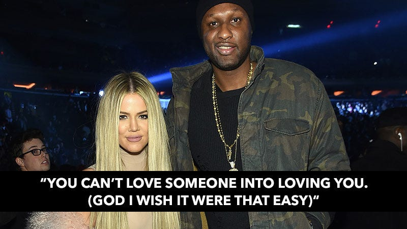 Illustration for article titled Khloe on Marriage to Lamar: 'Don't Lose Yourself By Trying to Fix What's Meant to Stay Broken'