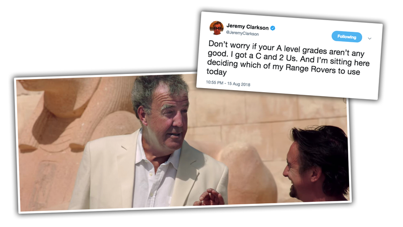 Illustration for article titled Your Annual Jeremy Clarkson Motivational Tweet Is Here