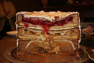 Illustration for article titled An Epic Cake Made From Pies