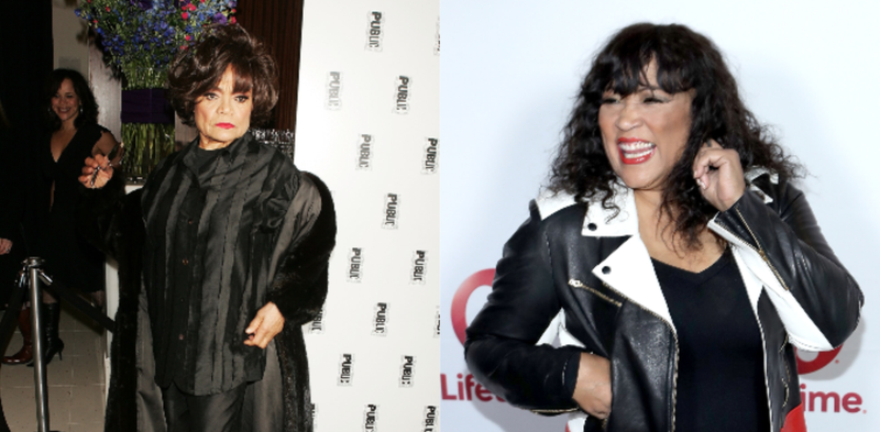 (L-R): Actress Eartha Kitt arrives at the after party for 'The Public Sings: A 50th Anniversary Celebration' January 30, 2006 in New York City. ; Actress Jackie Harry arrives to the live show and holiday party for 'Vivica's Black Magic,' premiering January 4th on December 6, 2016 in Los Angeles, California.