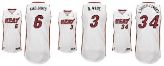 Illustration for article titled Heat And Nets Reveal Nickname Jerseys
