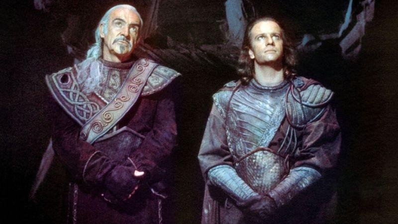That's Juan Sánchez Villa-Lobos Ramírez on the left (Highlander II: The Quickening)