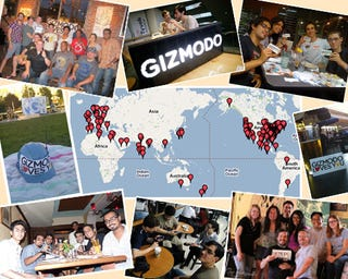 Illustration for article titled Gizmodo Day Celebrated in 70 Countries