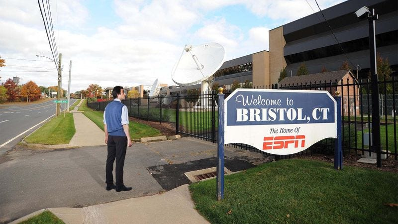 Illustration for article titled Sports Fan Swings By ESPN Headquarters To Check Latest Scores