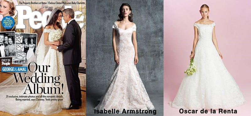 Illustration for article titled Oscar de la Renta Is Selling Amal Alamuddin Clooney's Dress