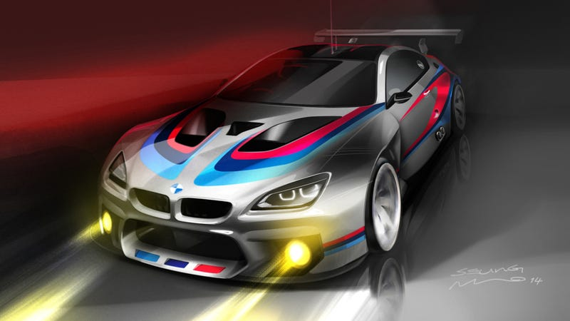Illustration for article titled The BMW M6 GT3 Will Be A Twin-Turbo V8 Track Destroying Beast