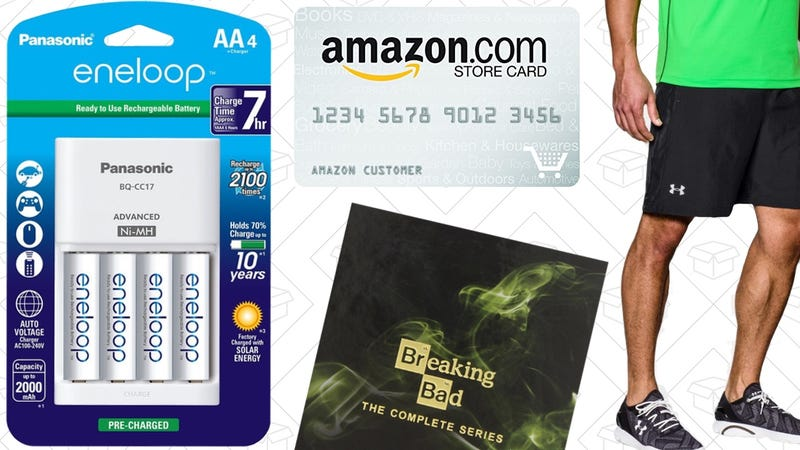 Illustration for article titled Today's Best Deals: Eneloop Batteries, Under Armour Outlet, Mother's Day Gifts, and More