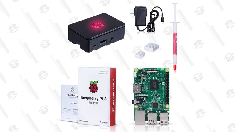 Raspberry Pi 3 Model B Starter Kit | $42 | Amazon | Promo code SBBRUUJ9