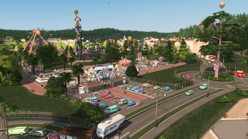 Illustration for article titled Oh, Cities: Skylines Is Now Also A Theme Park Game